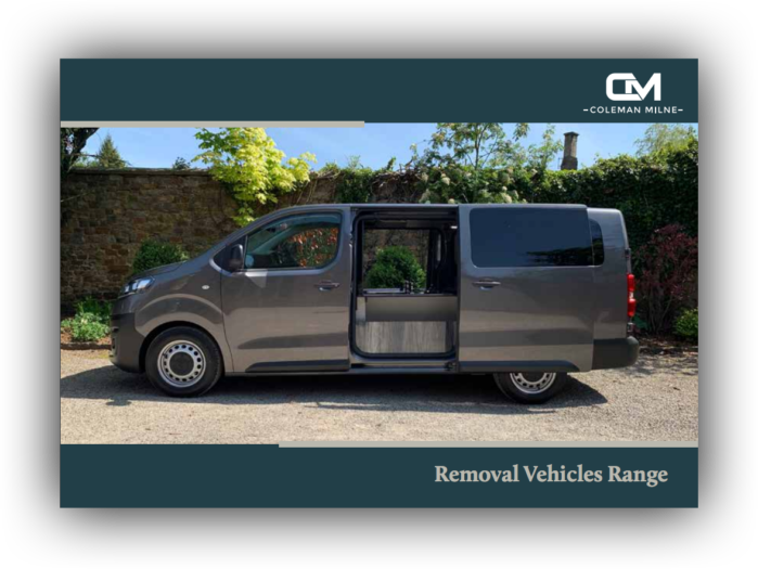 Front cover of the Removal Range brochure